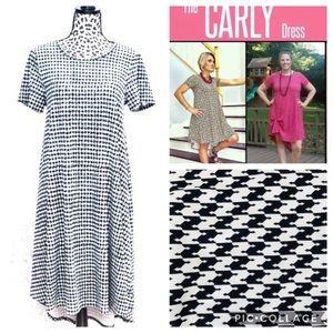 Lularoe Carly legging material XS houndstooth